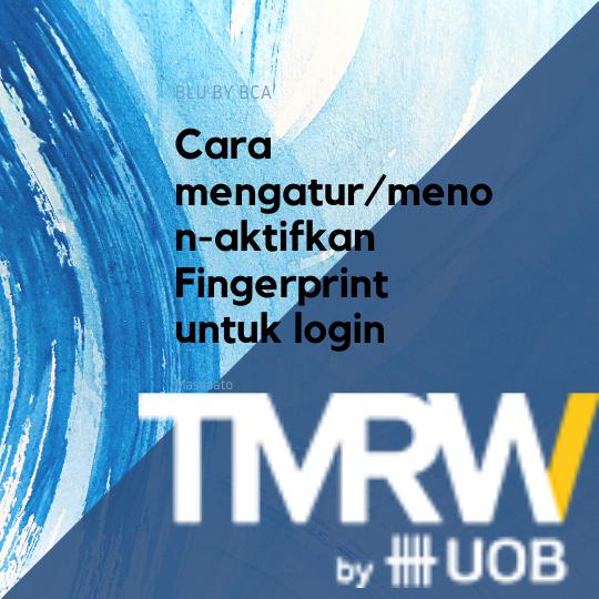 Cara mengatur/menon-aktifkan Fingerprint untuk login