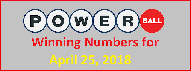 PowerBall Winning Numbers for Wednesday, 25 April 2018