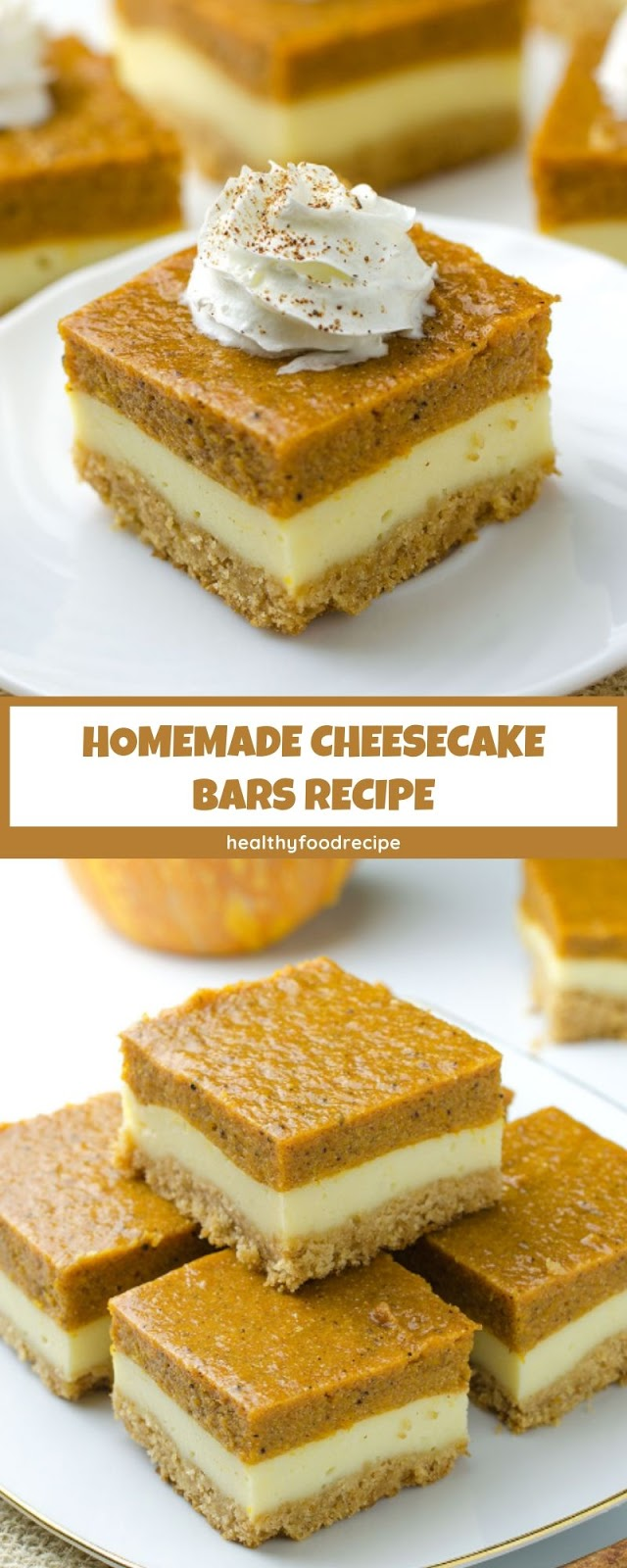 HOMEMADE CHEESECAKE BARS RECIPE