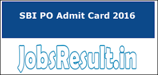 SBI PO Admit Card 2016
