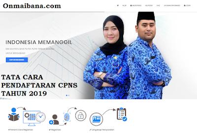 Pendaftaran CPNS Tahun 2019