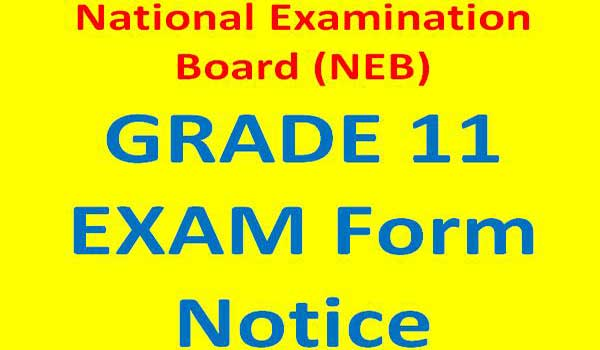 Grade 11 Exam form fill up