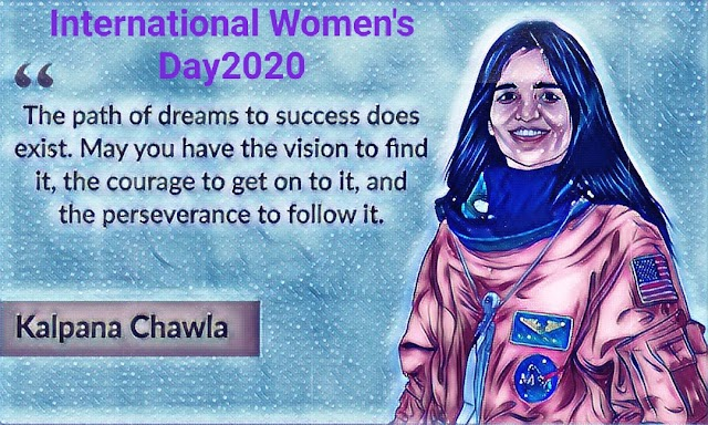 celebrating International Women's Day2021 with an animated homepage