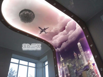 awesome 3D stretch ceiling for bedrooms