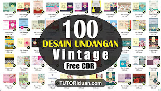 100 Desain Undangan VINTAGE CDR