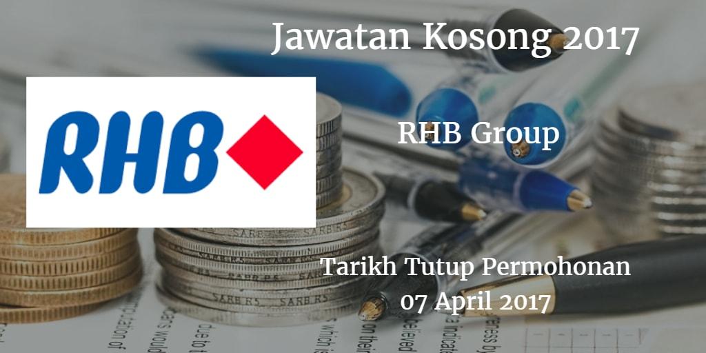 Jawatan Kosong RHB Group 07 April 2017
