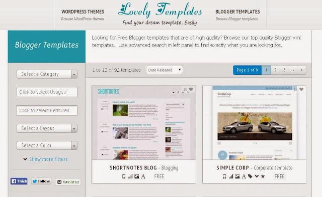 10 Trang Cung Cấp Template Free Đẹp Cho Blogspot