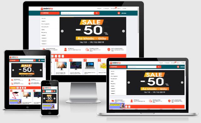 modern shop Ecommerce blogger template