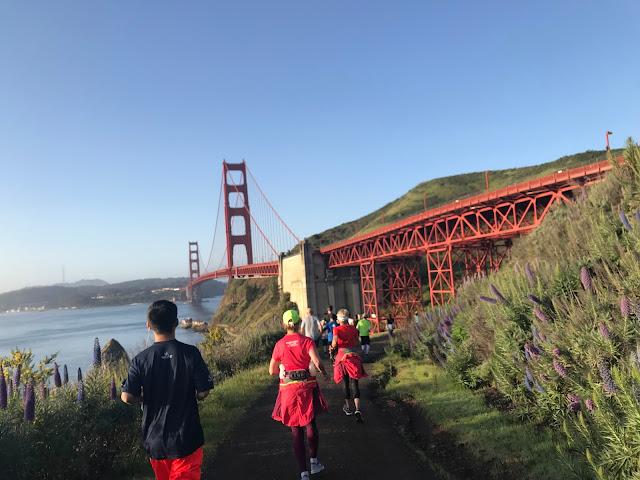 Rock'n'Roll San Francisco Half Marathon trail part