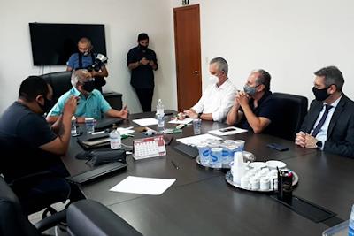 Reunião do Sinttromar com o prefeito Ulisses Maia. Café com Jornalista