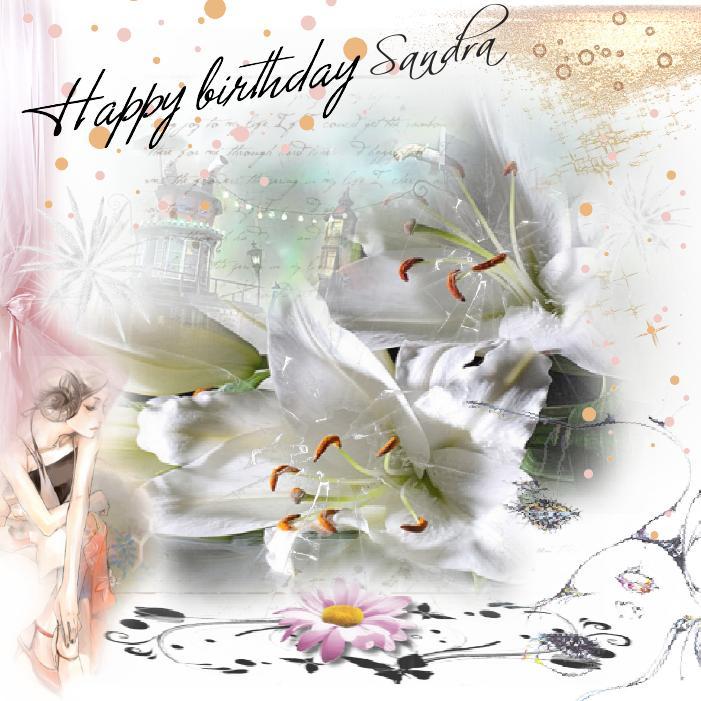 Carte Joyeux Anniversaire Sandra Cybercartes