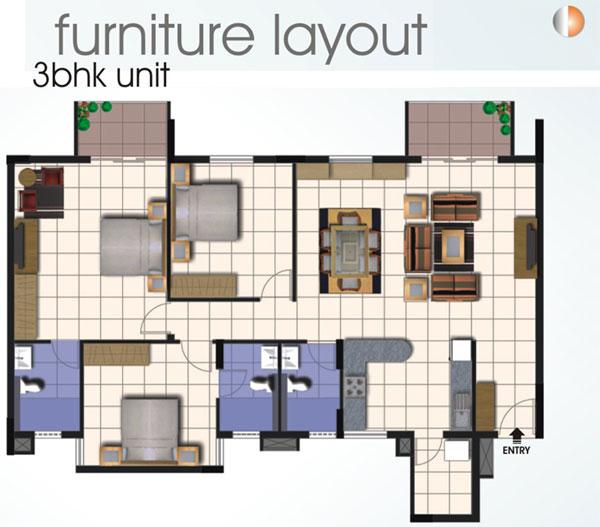 Foundation Dezin & Decor...: 2bhk & 3bhk layout's.