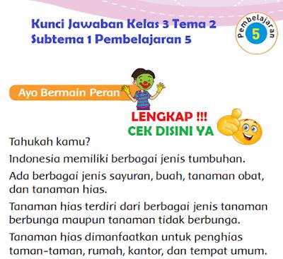 Kunci Jawaban Kelas 3 Tema 2 Subtema 1 Pembelajaran 5 www.simplenews.me