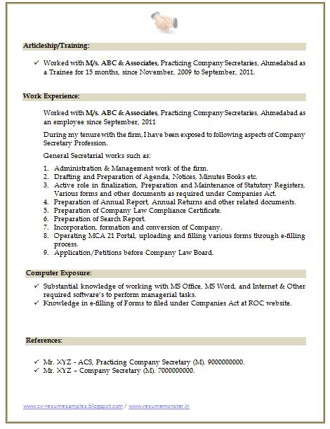 company resume 04052017