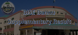 BISE Bannu SSC/ Matric Supplementary Result 2020