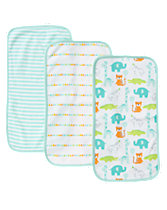 Zoo Burp Cloth 3-Pack