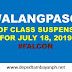 #WalangPasok: List of class suspensions for Thursday, July 18