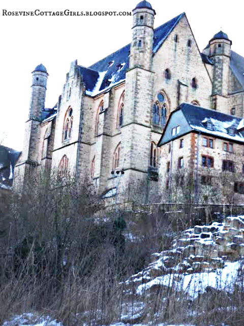 Marburg Castle In The Snow