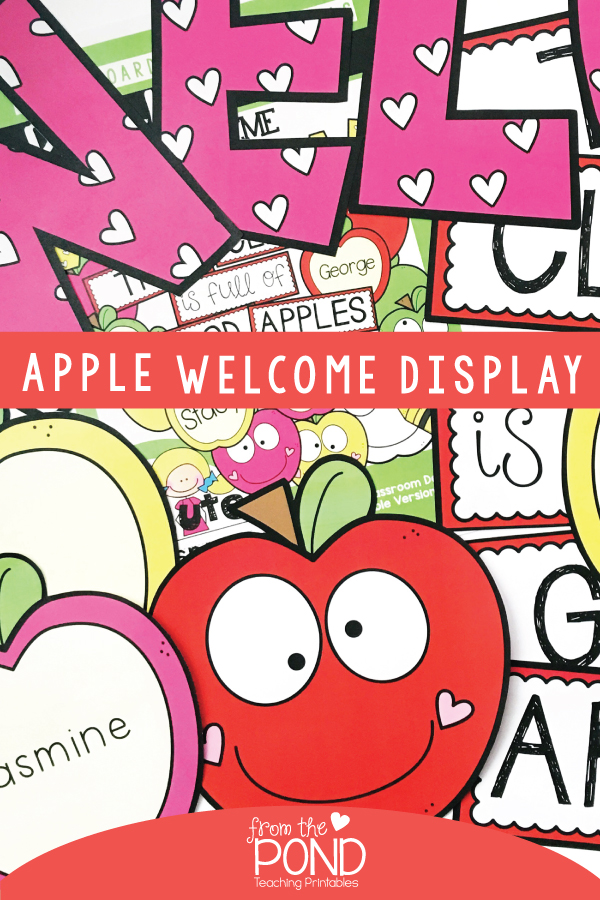 Back to School Apple Bulletin Board