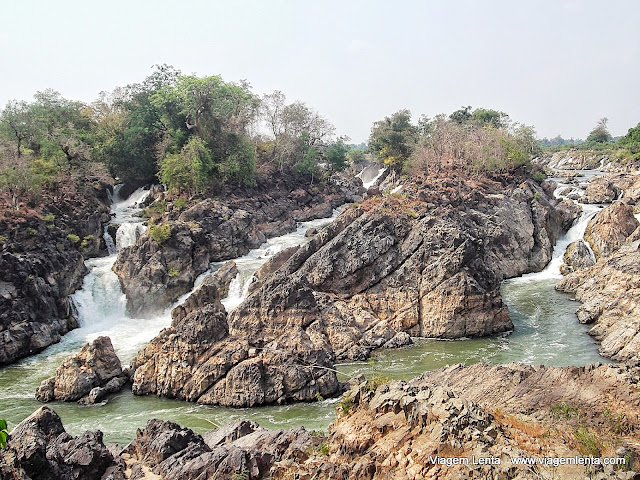Algumas visões das cachoeiras em Don Khon