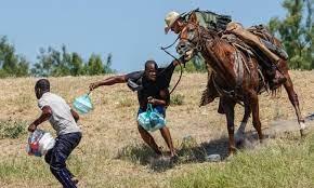horses in Texas border town