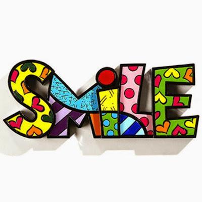 Escultura Romero Britto - Palavra Smile