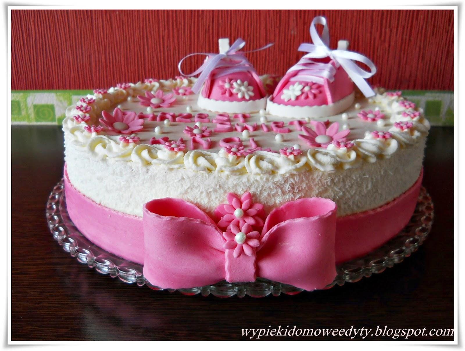 Moje Domowe Wypieki Tort Z Okazji Chrztu św Dla Dziewczynki