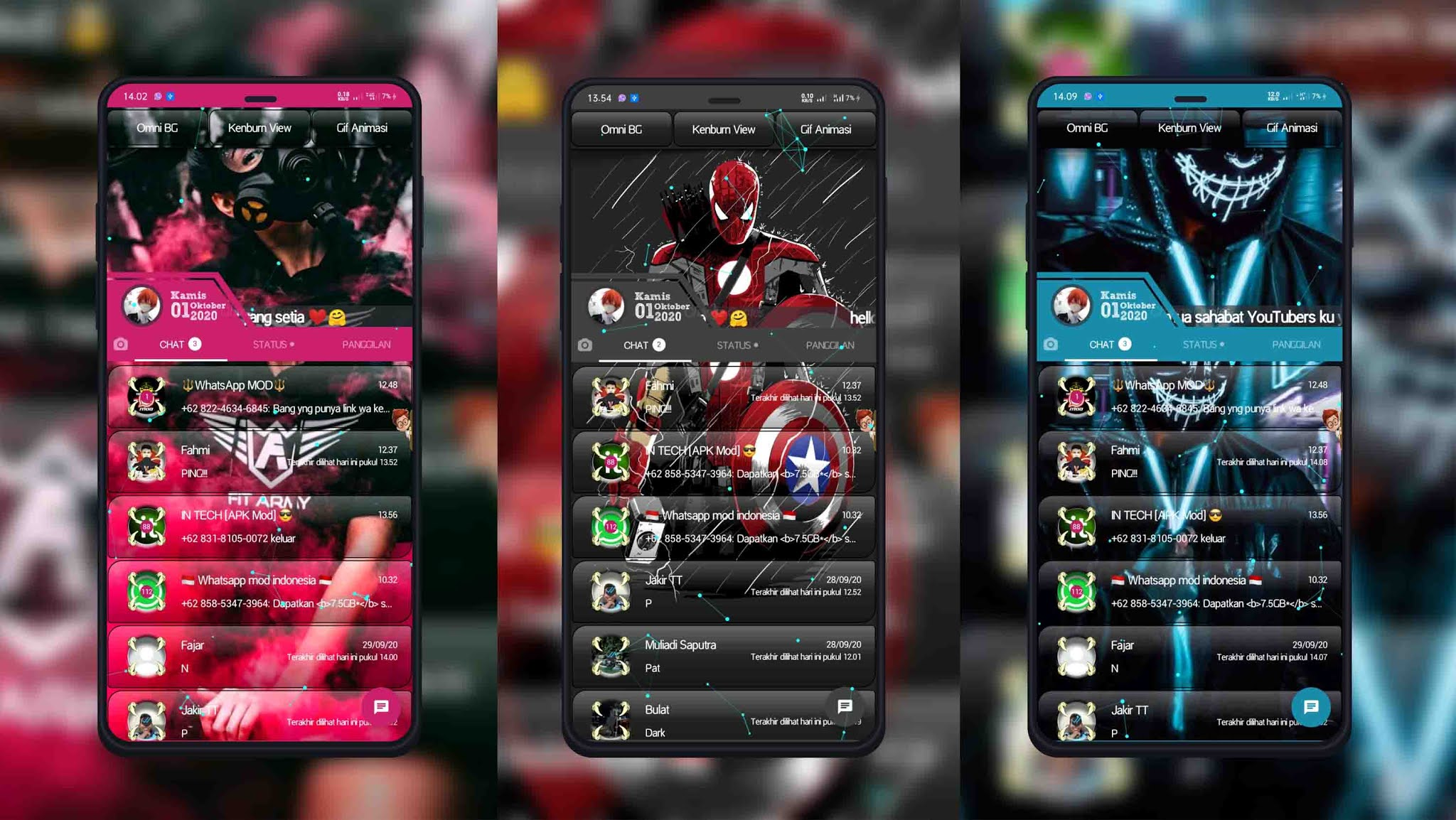 Download the MJW GB WhatsApp Theme for the Cooler 20 Display