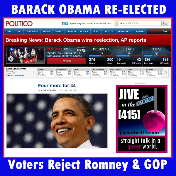 Voters reject GOP and Willard Mitt Romney.