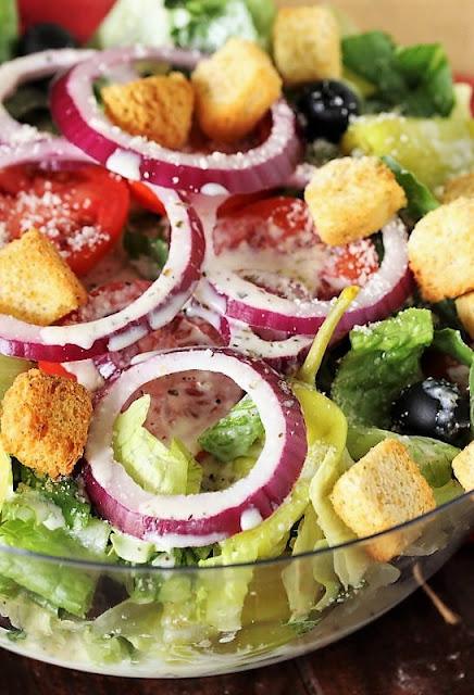 How to Make Copycat Olive Garden Salad Image