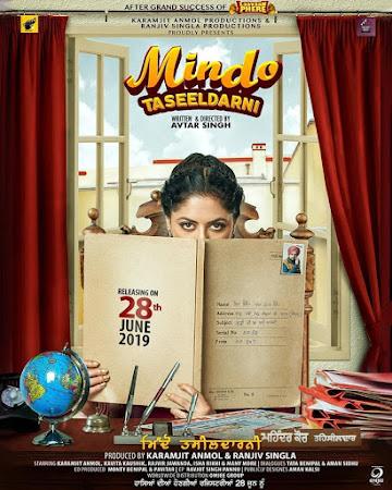 Poster Of Pollywood Movie Mindo Taseeldarni 2019 300MB PdvdRip 480P Full Punjabi Movie