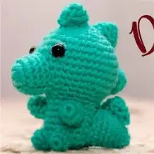 Mini Dinosaurio a Crochet