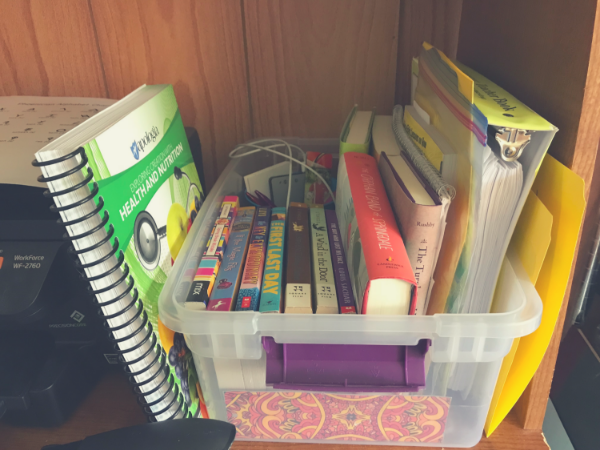 Here's how I #homeschool with a designated #schoolroom. #AsWeWalk