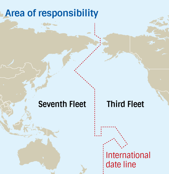 US To Counter China Uncertainty With Combined Pacific Fleet - Us navy fleet map