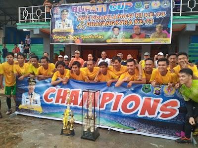 Menang Adu Penalti, TPA Juarai Bupati Kapuas Cup 2019