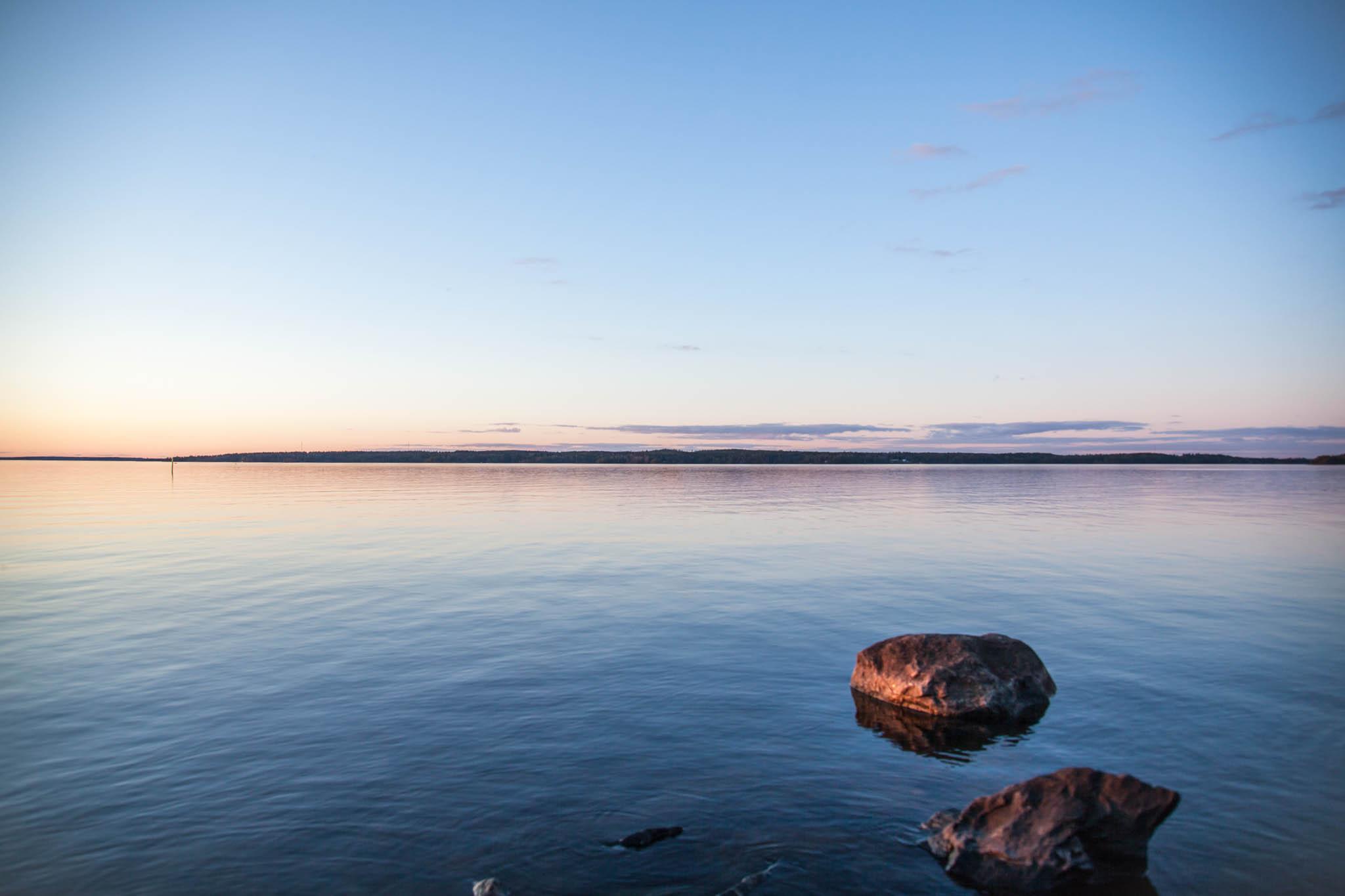 Näsijärvi Kaupinoja auringonlasku Kauppi