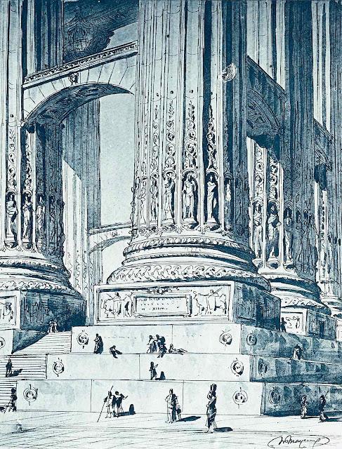 Henri Mayeux 1890 giant stone columns