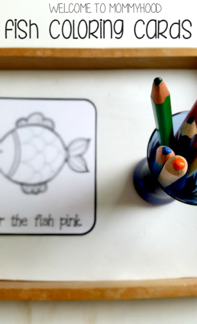 Fish unit themed activities and printables for preschoolers by Welcome to Mommyhood #montessori, #preschoolactivities, #homeschool, #fishthemedactivities