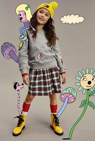 ropa moda niñas Tommy Hilfiger 2020 otoño invierno
