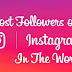 Most Instagram Followers Updated 2019