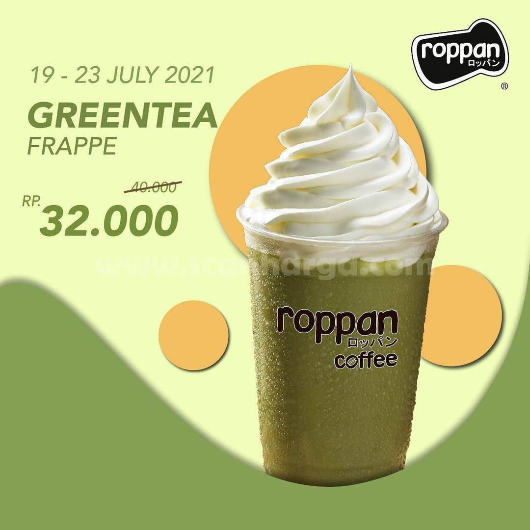 Roppan Promo Green Tea Frappe harga hanya Rp. 32.000