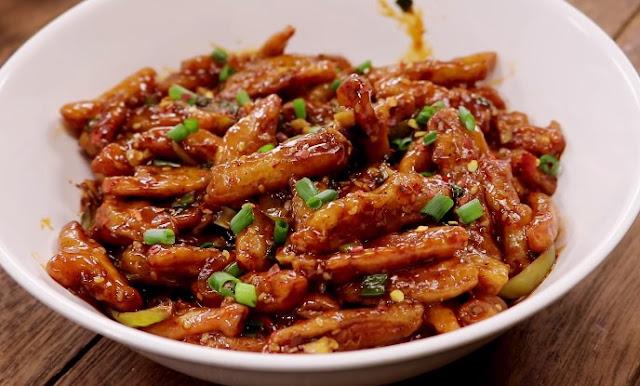 Crispy Honey Chilli Potatoes #vegetarian #appetizers