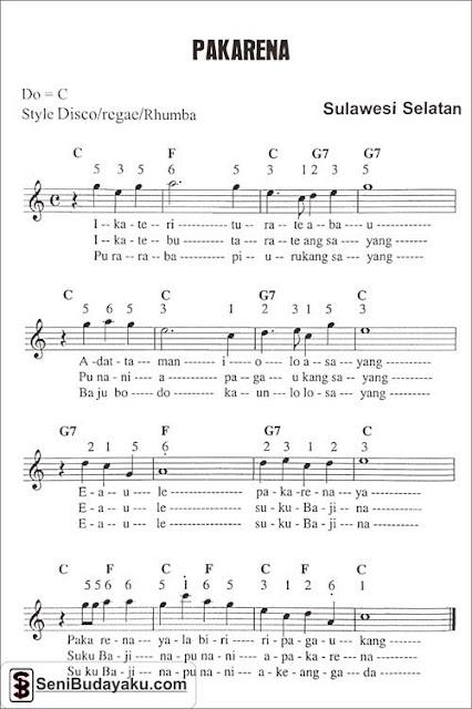 chord-lagu-pakarena-sulawesi-selatan