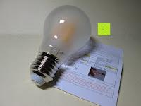 Erfahrungsbericht: LED-Filament-Lampe RETROFIT CLASSIC (ersetzt 60 Watt) E27 warmweiß, Lebensdauer 30 Jahre! 6 Watt, 550 Lumen, 2 Glühfaden, MATT [Energieklasse A++]