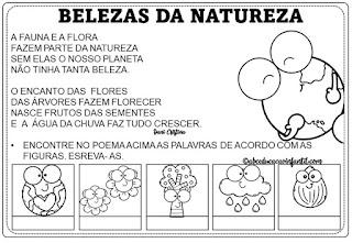 Atividades Meio Ambiente para imprimir