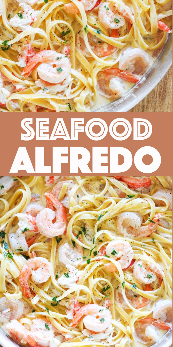 Seafood Alfredo – One Pot Shrimp And Crab Alfredo