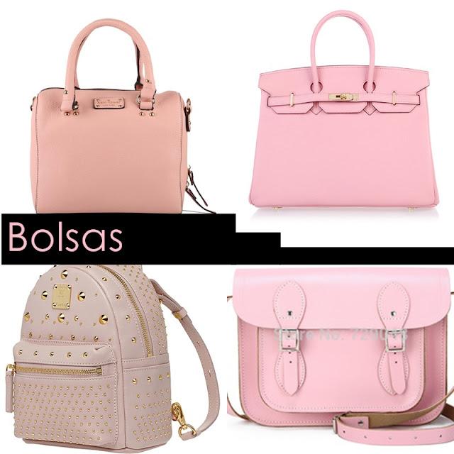bolsa rosa, mochila rosa, rosa bebe, rose quartz, satchel bag, bolsa satchel rosa