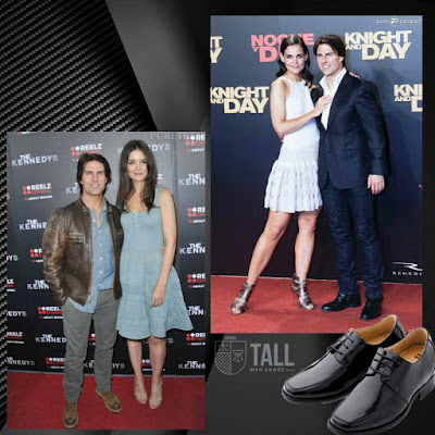 Tom Cruise elevator shoes and Katie Holmes