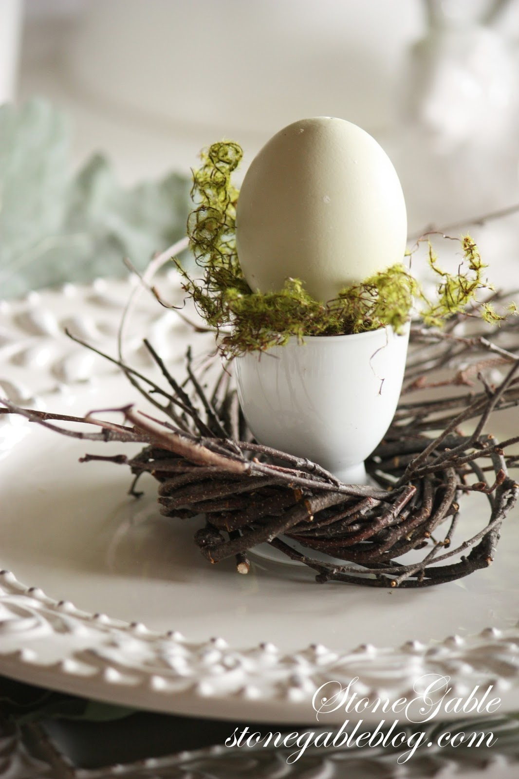An Easy Easter Table Using A Formula Stonegable