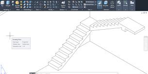Cara membuat tangga 3D di AutoCAD